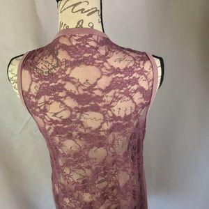 voice of california Other - Dusty Mauve Lace and Knit Kimono XL DYT Type 2
